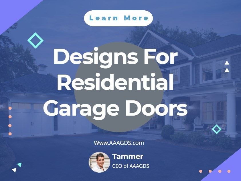 Designs For Residential Garage Doors